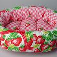イチゴ柄・オーバルMSサイズ